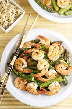 Shrimp and Asparagus Stir Fry with Lemon Sauce Recipe I used broccoli, carrots, snopeas