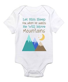 Loving this Love you a Latte White 'Let Him Sleep' Bodysuit - Infant on #zulily! #zulilyfinds
