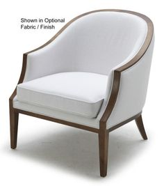 TUB CHAIR WITH WOOD TRIM TIGHT :: CHAIRS - UPHOLSTERED & ACCENT :: Furniture…