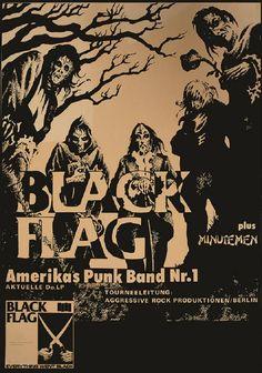 FLAG by Annex Black Flag Vintage Concert Band Poster Fine Art Print