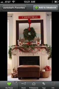 Swirling Christmas Mantle Vines