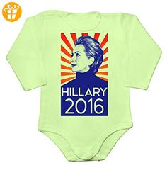 Hillary Clinton 2016 Election Poster Baby Long Sleeve Romper Bodysuit XX-Large - Baby bodys baby einteiler baby stampler (*Partner-Link)