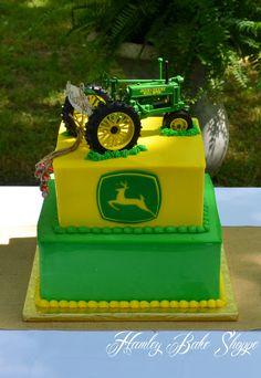 John Deere Tractor Groom's Cake  www.hamleybakeshoppe.com