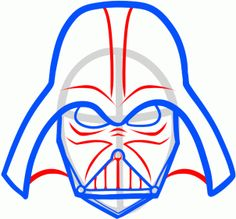 how to draw darth vader easy step 6