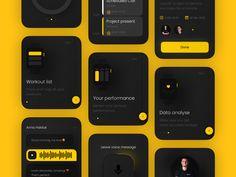 Ui for apple watch apps by Egor Gajduk Login Page Design, Flat Web Design, App Ui Design, Mobile App Design, Interface Design, User Interface, Design Layouts, Mobile Ui, Apple Watch Apps