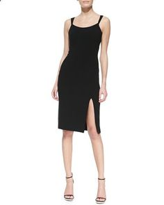 Crepe Tank Sheath Dress With Slit ,Michael Kors $845.00 (50% OFF)
