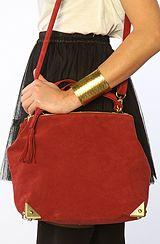 Nila Anthony The Suede Bag in Red #MissKL #MissKLCoachella