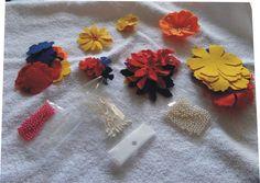 Kit in feltro per fare fiori-  fustellati, by Laboratorio Elisa Villalba, 9,00 € su misshobby.com