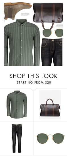 """""""Men's Casual"""" by zaful-men ❤ liked on Polyvore featuring Ray-Ban, Common Projects, men's fashion, menswear and men"""
