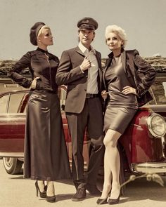 Gabriela Rickli-Gerster (right) wearing dress by GLothar Daniel Bechtold Autumn-Winter 2012-13 with models Diesel Schrader (center) and Isabell (left) Hair & Makeup by Lee Julie and the Photographer was Marcel A Mayer
