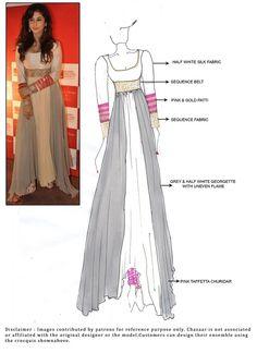 DIY Urmila Matondkar Ankle Length Anarkali Suit