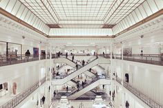 Le Bon Marché from Frank Bohbot's series of photographs titled Respect the Architect.