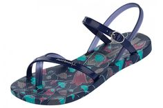 Ipanema Diamond IV Blue Floral Women's Sandals Flip Flops