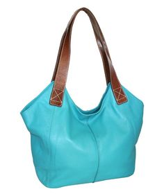 Look what I found on #zulily! Turquoise Princeton Princess Leather Tote #zulilyfinds