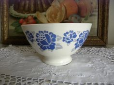 A french vintage big blue flower BOL bowl by CatherineLou on Etsy, €20.00