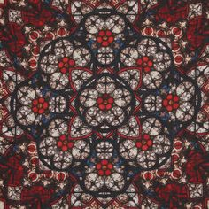 Alexander McQueen Stained Glass Print Silk Blend Scarf