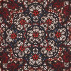 Alexander McQueen Stained Glass Print Silk Blend Scarf