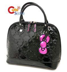 Hello Kitty Black Embossed Bag Small