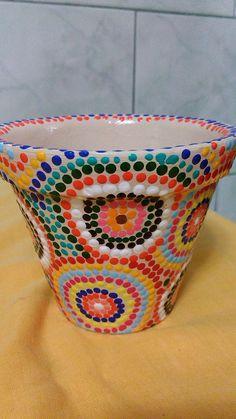 Vaso de cerâmica pintado a mão!