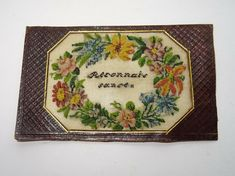 Needlework Old Sampler Embroidery Biedermeier gestickt Blumen Flowers Jhdt. Needlework, Embroidery, Antiques, Flowers, Ebay, Baby Crafts, Stationery, Postage Stamps, Clothing Accessories