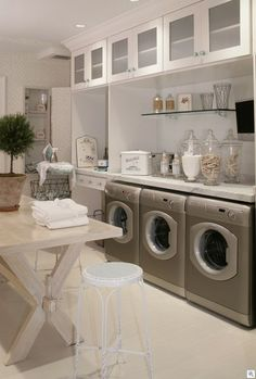 Ultimate laundry room.