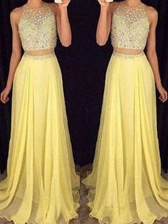 Princess Prom Dress, 2 pieces prom dresses 2 piece evening gowns simple formal dresses prom dresses teens fashion evening gown beadings evening dress party dress prom gowns OK Bridal Peach Prom Dresses, Prom Dresses 2016, Prom Dresses For Teens, Backless Prom Dresses, Sexy Dresses, Prom Gowns, Party Dresses, Chiffon Dresses, Occasion Dresses