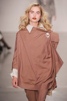 Draping at the @FollowWestwood #LFW show yesterday created beautiful asymmetry in the neckline.