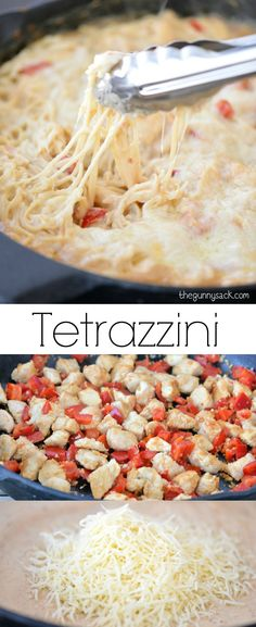 This easy Chicken Tetrazzini recipe is perfect for family dinners. This skillet recipe can be made in 30 minutes!