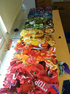 DIY rainbow collage project (this one jodi curl did with her kiddos!)