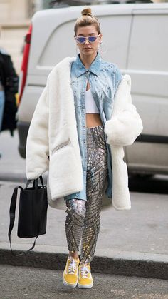 Hailey Baldwin from The Big Picture: Today's Hot Photos  Fashionista! The model turns heads on the streets of Franceduring Paris Fashion Week.