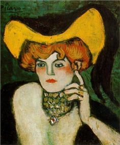 """Woman with Necklace of Gems"", 1901, by Pablo Picasso (Spanish, 1881-1973)"