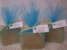 Tiffany Blue favors   Shea butter soaps by CountryChicSoaps, $140.00