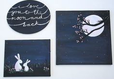 Original I Love You to the Moon and Back bunny NURSERY by melbean, $36.00