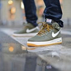 nike air force 1 mid medium olive
