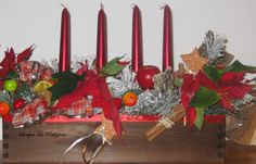 advent wreath & wianek adwentowy Advent, Candles, Table Decorations, Furniture, Home Decor, Decoration Home, Room Decor, Candy, Home Furnishings