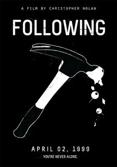 Following (1999) ~ Minimal Movie Poster by Edson Muzada ~ Nolan Series #amusementphile