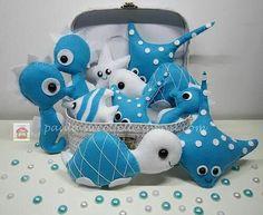 Blue/White Stingray, Sea Turtles & Seahorses