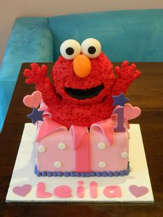 Leila's 1st birthday - Elmo cake | by Cakes for Ruby