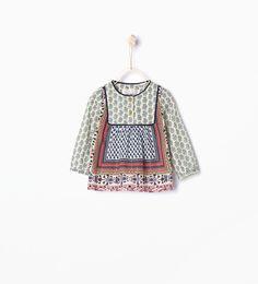 """Imagem 1 de Camisa estampado """"patchwork"""" da Zara"""