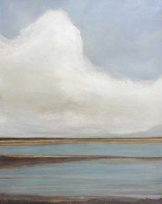 This is a subtle coastal lansdcape. This piece has a mate.