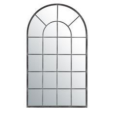 Espejo Arcade gris