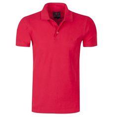 b33bcfe748c0 Ανδρικές κοντομάνικες μπλούζες polo · Απλή κόκκινη ανδρική μπλούζα polo για  καθημερινή χρήση.