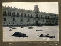 Palacio Nacional durante la decena trágica 1913