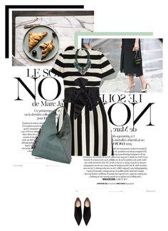 """Stripe it!!!"" by veronicamastalli ❤ liked on Polyvore featuring Marc Jacobs, Valentino, Zara, Henry Beguelin, SHOUROUK, Halston Heritage, valentino, zara and shorouk"