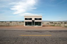 Prada Marfa, 2005. A site specific, permanent land art project modelled after a Prada boutique.