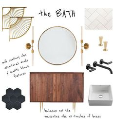 Mid Century Bathroom | brittanyMakes