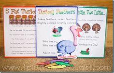 3 Printable Turkey songs from @{1plus1plus1} Carisa