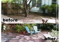 Make your own stone patio! simple, easy to follow instructions! And cheap! Ebook instructions for only $20. www,garagesalequeen.biz