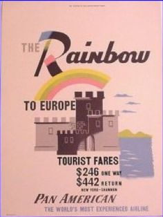 """The Rainbow"" to Europe - Pan Am"