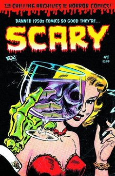 A comic so good it's...SCARY! Imagine you were a kid in the 1950s reading contraband horror comics under the bed covers by flashlight! You were devouring the very comic books you parents, your teachers and anti-comics crusader Dr. Fredric Wertham were trying to keep out of your hands! Now you can recreate that same experience, because the comics that were banned are back in actual comic-book format! The people that brought you Dick Briefer's Frankenstein, Bob Powell's Terror and Zombies are…